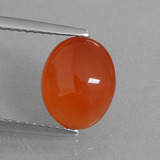 thumb image of 2.3ct Oval Cabochon Orange Carnelian (ID: 431120)