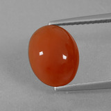 thumb image of 2.5ct Oval Cabochon Orange Red Carnelian (ID: 431546)