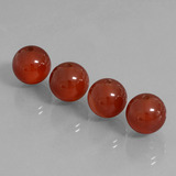 thumb image of 29.7ct Drilled Sphere Brownish Red Carnelian (ID: 434863)