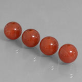 thumb image of 30.1ct Drilled Sphere Brownish Red Carnelian (ID: 434865)