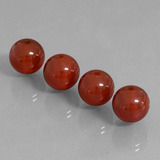 thumb image of 29.4ct Drilled Sphere Brownish Red Carnelian (ID: 434869)