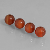 thumb image of 14.7ct Drilled Sphere Brownish Red Carnelian (ID: 434871)
