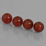 thumb image of 29.1ct Drilled Sphere Brownish Red Carnelian (ID: 435166)