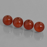 thumb image of 30ct Drilled Sphere Brownish Red Carnelian (ID: 435167)