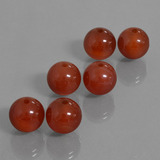thumb image of 43.2ct Drilled Sphere Brownish Red Carnelian (ID: 435169)