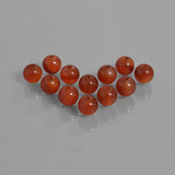 thumb image of 43.4ct Drilled Sphere Brownish Red Carnelian (ID: 435176)