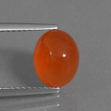 thumb image of 2.5ct Oval Cabochon Orange Red Carnelian (ID: 436262)