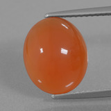 thumb image of 3.9ct Oval Cabochon Orange Red Carnelian (ID: 436331)