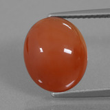 thumb image of 4.3ct Oval Cabochon Brownish Red Carnelian (ID: 436333)