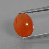 thumb image of 3.3ct Oval Cabochon Orange Carnelian (ID: 436363)