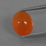 thumb image of 3.5ct Oval Cabochon Orange Carnelian (ID: 436452)
