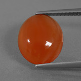 thumb image of 3.7ct Oval Cabochon Orange Carnelian (ID: 436454)