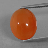 thumb image of 5ct Oval Cabochon Orange Carnelian (ID: 436459)