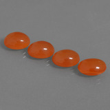 thumb image of 10.4ct Oval Cabochon Orange Carnelian (ID: 436799)