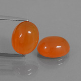 thumb image of 6.8ct Oval Cabochon Orange Carnelian (ID: 437705)