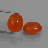 thumb image of 7.4ct Oval Cabochon Red Orange Carnelian (ID: 437711)