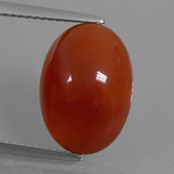 thumb image of 6.5ct Oval Cabochon Red Orange Carnelian (ID: 437745)