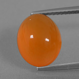 thumb image of 4.7ct Oval Cabochon Orange Carnelian (ID: 437819)