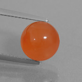 thumb image of 3.6ct Round Cabochon Orange Carnelian (ID: 437964)