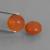 thumb image of 2.5ct Round Cabochon Orange Carnelian (ID: 438027)