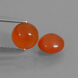 thumb image of 2.5ct Round Cabochon Orange Carnelian (ID: 438030)