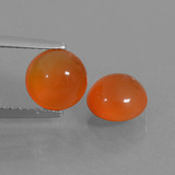 thumb image of 2.7ct Round Cabochon Orange Carnelian (ID: 438033)