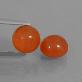 thumb image of 2.9ct Round Cabochon Red Orange Carnelian (ID: 438034)
