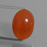 thumb image of 12.7ct Oval Cabochon Orange Red Carnelian (ID: 449546)