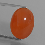 thumb image of 21.1ct Oval Cabochon Orange Red Carnelian (ID: 449547)