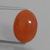 thumb image of 13.1ct Oval Cabochon Orange Red Carnelian (ID: 449549)