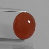 thumb image of 4.3ct Oval Cabochon Orange Red Carnelian (ID: 449553)
