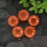 thumb image of 2.2ct Round Facet Orange Carnelian (ID: 476927)