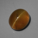 thumb image of 4.6ct Oval Cabochon Golden Green Cat's Eye Apatite (ID: 419233)