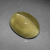 thumb image of 4.3ct Oval Cabochon Golden Green Cat's Eye Apatite (ID: 419253)