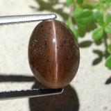 thumb image of 4.6ct Oval Cabochon Deep Orange Brown Cat's Eye Scapolite (ID: 484114)