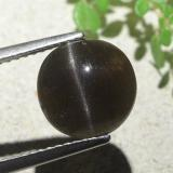 thumb image of 3.9ct Round Cabochon Black Cat's Eye Scapolite (ID: 484128)