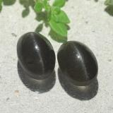 thumb image of 2.5ct Oval Cabochon Black Cat's Eye Scapolite (ID: 484138)