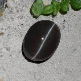 thumb image of 2.2ct Oval Cabochon Black Cat's Eye Scapolite (ID: 484694)
