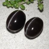 2.17 ct Oval Cabochon Black Cat's Eye Scapolite Gem 8.58 mm x 6.3 mm (Photo B)