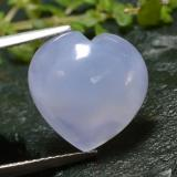 thumb image of 6ct Heart Cabochon Lavender Blue Chalcedony (ID: 312797)