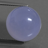 thumb image of 13.1ct Round Cabochon Lavender Blue Chalcedony (ID: 456847)