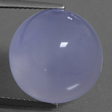 thumb image of 15.3ct Round Cabochon Lavender Blue Chalcedony (ID: 456850)