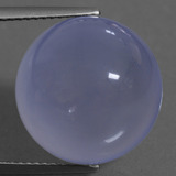 thumb image of 17.5ct Round Cabochon Lavender Blue Chalcedony (ID: 456854)