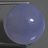 thumb image of 34.4ct Round Cabochon Lavender Blue Chalcedony (ID: 456941)