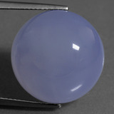 thumb image of 23.6ct Round Cabochon Lavender Blue Chalcedony (ID: 456942)