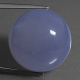 thumb image of 35.4ct Round Cabochon Lavender Blue Chalcedony (ID: 456944)