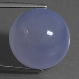 thumb image of 22.2ct Round Cabochon Lavender Blue Chalcedony (ID: 456948)