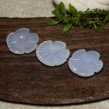 thumb image of 15.8ct Carved Flower Cabochon Lavender Blue Chalcedony (ID: 485703)