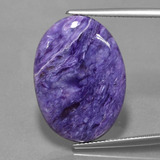 thumb image of 16.2ct Oval Cabochon Violet Charoite (ID: 452306)
