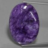 thumb image of 19ct Oval Cabochon Violet Charoite (ID: 456230)